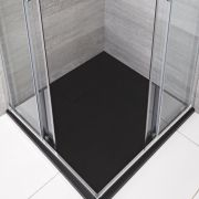 Receveur de douche carré Anthracite 90x90cm - Rockwell