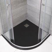 Receveur de douche Anthracite quart de rond 90cm - Rockwell