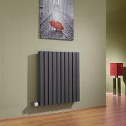 Radiateur Design Électrique Horizontal Anthracite Sloane 63,5cm x 60cm x 5,4cm