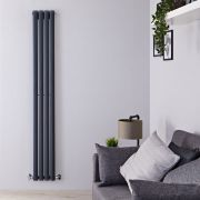 Radiateur Design Vertical Anthracite Vitality 178cm x 23,6cm x 5,6cm 595 Watts