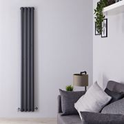 Radiateur Design Vertical Anthracite Vitality 178cm x 23,6cm x 7,8cm 934 Watts