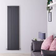 Radiateur Design Vertical Anthracite Sloane 178cm x 47,2cm x 7,2cm 1931 Watts