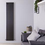 Radiateur Design Vertical Noir Vitality 178cm x 35,4cm x 7,8cm 1401 Watts