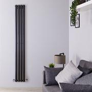 Radiateur Design Vertical Noir Vitality 178cm x 23,6cm x 5,6cm 595 Watts
