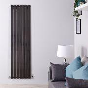 Radiateur Design Vertical Noir Delta 178cm x 49cm x 6cm 1732 Watts