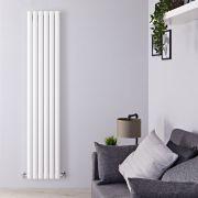 Radiateur Design Vertical Blanc Vitality 178cm x 35,4cm x 5,6cm 892 Watts