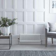 Radiateur Horizontal Style Fonte Blanc Windsor 30cm x 60cm x 10cm 525 Watts