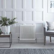 Radiateur Horizontal Style Fonte Blanc Windsor 60cm x 60,8cm x 10cm 950 Watts