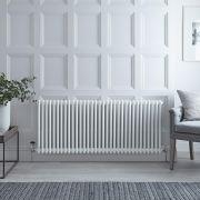 Radiateur Horizontal Style Fonte Blanc Windsor 60cm x 150,8cm x 6,8cm 1873 Watts