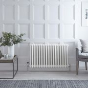 Radiateur Horizontal Style Fonte Blanc Windsor 60cm x 99cm x 10cm 1608 Watts