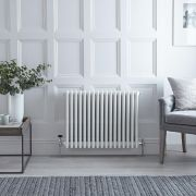 Radiateur Horizontal Style Fonte Blanc Windsor 60cm x 76,5cm x 13,3cm 1613 Watts