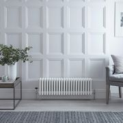 Radiateur Horizontal Style Fonte Blanc Windsor 30cm x 99cm x 13,3cm 1060 Watts
