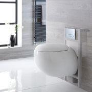 Pack WC Suspendu Langtree - Bâti-support 82x40cm & Plaque de Déclenchement - Choix parmi 4 Modèles