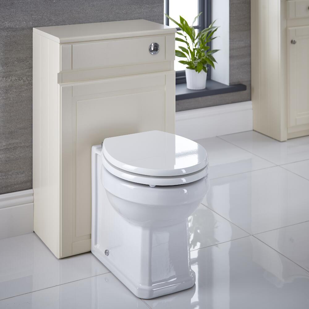 Coffrage Wc Suspendu Avec Rangement meuble coffrage ivoire pour wc à poser 81.5x50x30cm