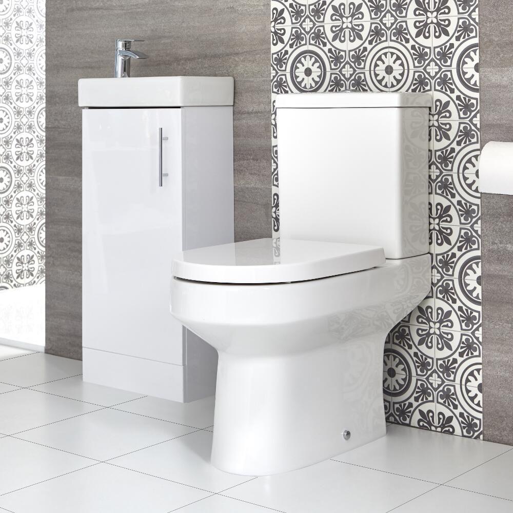 Ensemble Meuble Lave-mains à Poser Et Pack WC