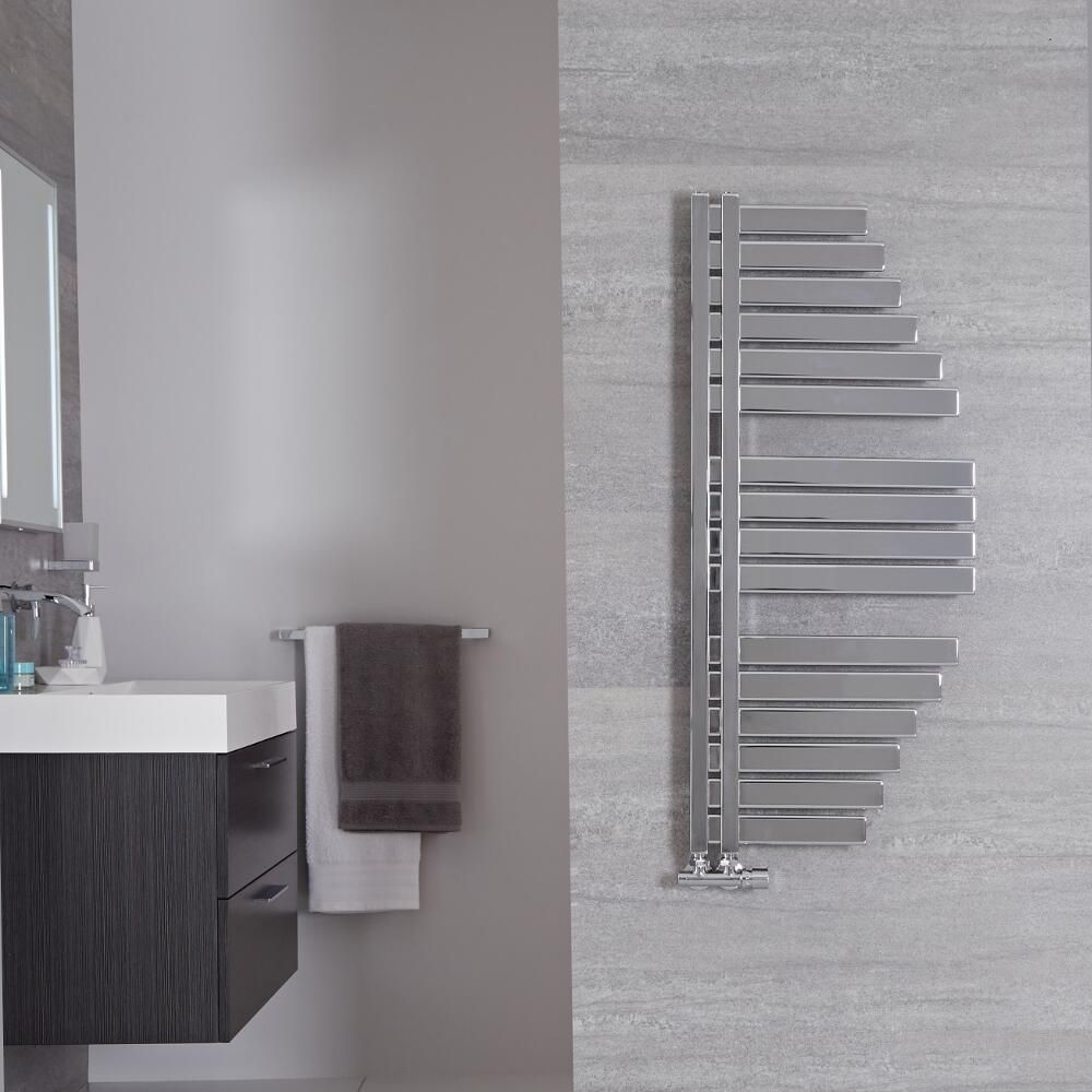 Comment Choisir La Puissance D Un Seche Serviette Electrique sèche-serviettes design - chromé – 100 cm x 48,3 cm – lazio