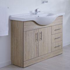 Meuble-lavabo 106x78x48cm Classic Oak