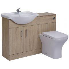 Meuble-lavabo & Toilette WC 65x78x30cm Classic Oak