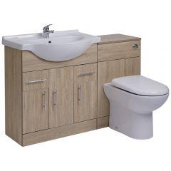 Meuble-lavabo & Toilette WC 75x78x48cm Classic Oak