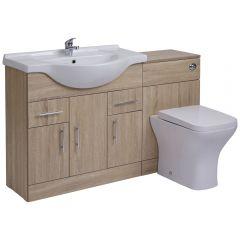 Meuble-lavabo & Toilette WC 85x78x48cm Classic Ebony