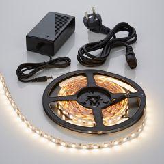 Biard Kit Ruban LED 5050 Blanc chaud 5m