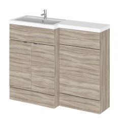 Meuble-lavabo wengé 110 x 86.4 x 35.5cm Version gauche