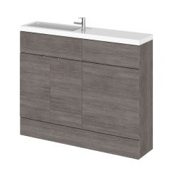 Meuble-lavabo wengé gris brun 110 x 86.4 x 25.5cm