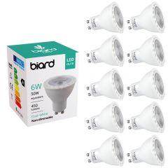 Lot de 10 Ampoules spot LED 6W GU10