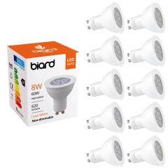 Lot de 10 Ampoules spot LED 8W GU10