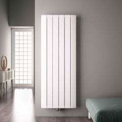 Radiateur Design Vertical Raccordement Central Aluminium Blanc Aurora 180cm x 56,5cm x 4,5cm 2303 Watts