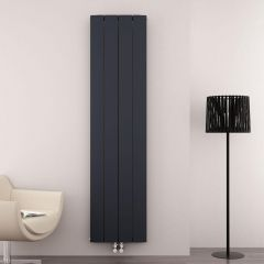 Radiateur Design Vertical Raccordement Central Aluminium Anthracite Aurora 180cm x 37,5cm x 4,6cm 1535 Watts