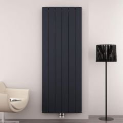 Radiateur Design Vertical Raccordement Central Aluminium Anthracite Aurora 180cm x 56,5cm x 4,6cm 2303 Watts