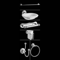 Pack de 6 accessoires de salle de bain Rétro
