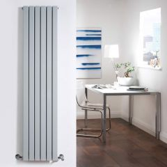 Radiateur Design Vertical Argent Sloane 160cm x 35,4cm x 7,2cm 1193 Watts