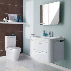 Armoire Miroir de Salle de Bains 80x60x12cm
