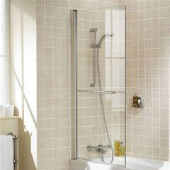 Pare baignoire 143.5 x 77-79cm & porte-serviette