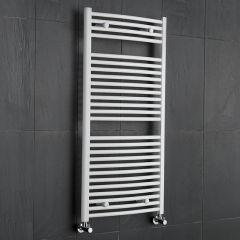 Sèche-Serviettes Incurvé Blanc Etna 120cm x 60cm x 5,2cm 888 Watts
