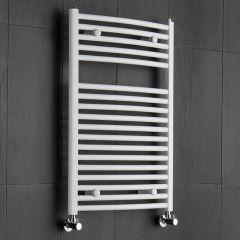 Hudson Reed Sèche-Serviettes Incurvé Blanc Etna 80cm x 60cm x 5,2cm 592 Watts