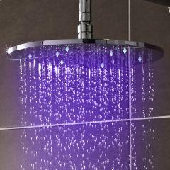 Pomme de douche ronde 30cm à LED