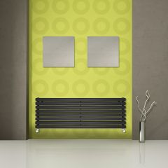 Radiateur Design Horizontal Noir Vitality 47,2cm x 178cm x 7,8cm 1798 Watts