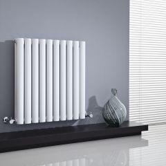 Radiateur Design Horizontal Blanc Vitality 63,5cm x 59,5cm x 7,8cm 932 Watts