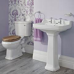 Lavabo 59cm & WC - Rétro - Choix d'abattant