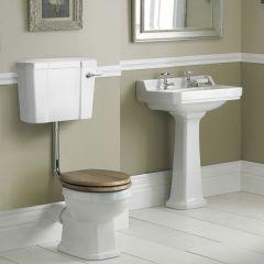 Lavabo 56cm & WC semi-suspendu Rétro Abattant au choix