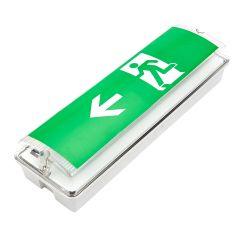 Biard Bloc sortie de secours LED allumage continu ou d'urgence - gauche