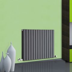 Radiateur Design Horizontal Anthracite Sloane 63,5cm x 83,4cm x 7,1cm 1307 Watts