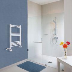 Hudson Reed Sèche-Serviettes Mixte Incurvé Blanc Etna 70cm x 40cm x 3,8cm 280 Watts