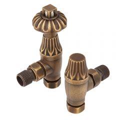 Robinets de radiateur thermostatique d'angle en laiton