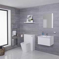 Meuble Lavabo Newington 60cm & Pack WC Blanc Mat