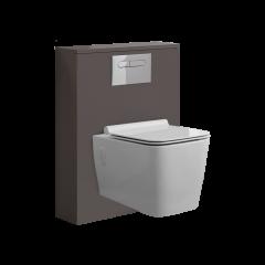 WC Moderne avec meuble carré Newington - 60cm - Gris Mat