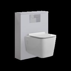 WC Moderne avec meuble carré Newington - 60cm - Blanc Mat